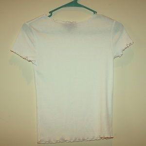 Ruffle, and Ribbed T-shirt